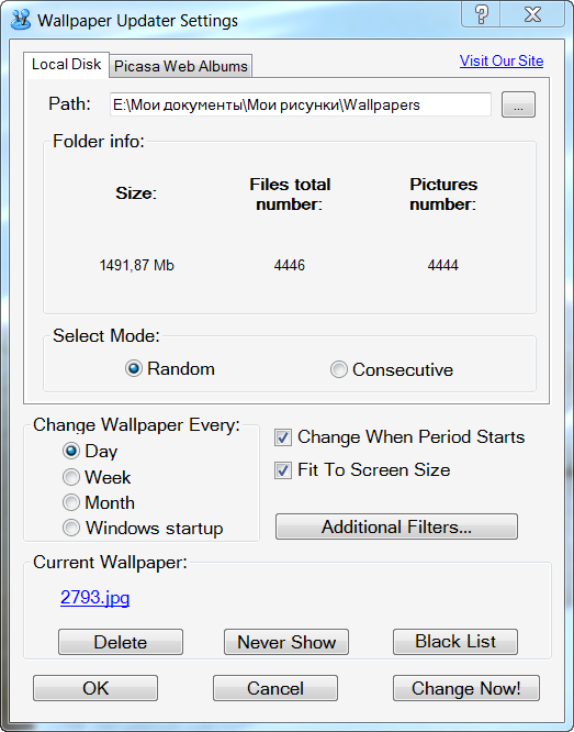 Click to view Wallpaper Updater screenshots